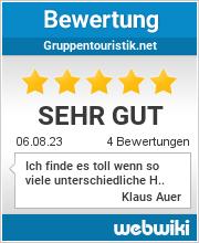 Bewertungen zu gruppentouristik.net