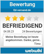 Bewertungen zu ed-versand.de