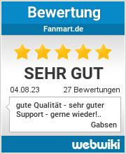 Bewertungen zu fanmart.de