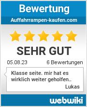 Bewertungen zu auffahrrampen-kaufen.com