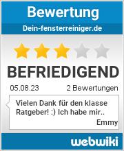 Bewertungen zu dein-fensterreiniger.de