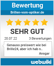 Bewertungen zu brillen-vom-optiker.de