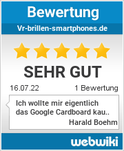 Bewertungen zu vr-brillen-smartphones.de