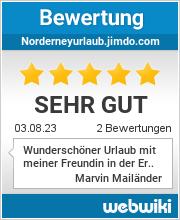 Bewertungen zu norderneyurlaub.jimdo.com