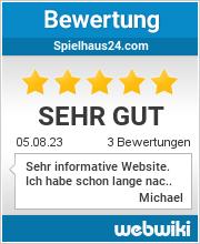 Bewertungen zu spielhaus24.com