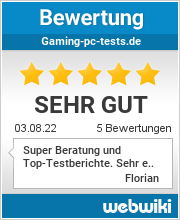 Bewertungen zu gaming-pc-tests.de