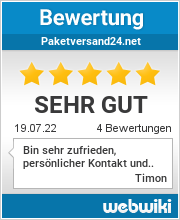 Bewertungen zu paketversand24.net