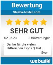 Bewertungen zu shisha-tester.com