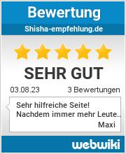 Bewertungen zu shisha-empfehlung.de