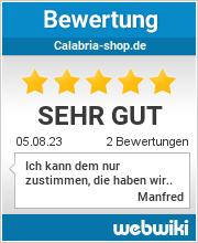 Bewertungen zu calabria-shop.de