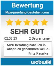 Bewertungen zu mpu-pruefung-bestehen.com