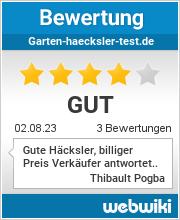 Bewertungen zu garten-haecksler-test.de