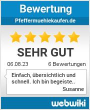 Bewertungen zu pfeffermuehlekaufen.de