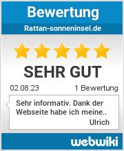 Bewertungen zu rattan-sonneninsel.de
