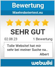 Bewertungen zu maehrobotertest.eu