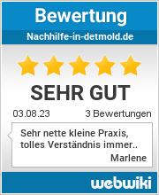 Bewertungen zu nachhilfe-in-detmold.de