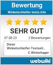 Bewertungen zu winkelschleifer-tests.info