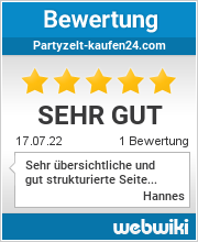 Bewertungen zu partyzelt-kaufen24.com