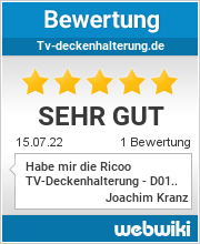 Bewertungen zu tv-deckenhalterung.de