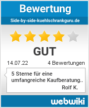 Bewertungen zu side-by-side-kuehlschrankguru.de