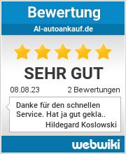 Bewertungen zu al-autoankauf.de