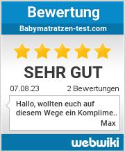 Bewertungen zu babymatratzen-test.com