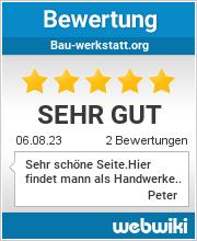 Bewertungen zu bau-werkstatt.org