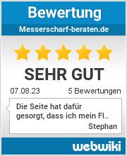 Bewertungen zu messerscharf-beraten.de