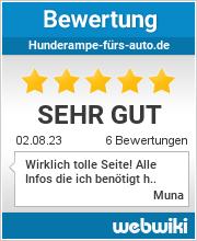 Bewertungen zu hunderampe-fürs-auto.de