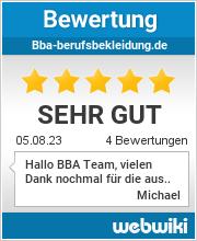 Bewertungen zu bba-berufsbekleidung.de