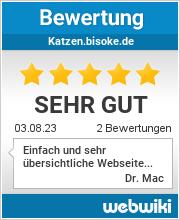 Bewertungen zu katzen.bisoke.de