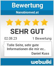 Bewertungen zu nanobiomed.at