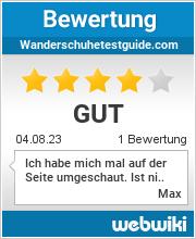 Bewertungen zu wanderschuhetestguide.com