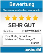 Bewertungen zu waermepumpentrockner-sparsam.de