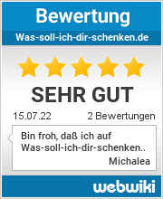 Bewertungen zu was-soll-ich-dir-schenken.de