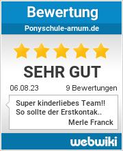 Bewertungen zu ponyschule-arnum.de