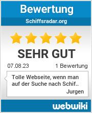 Bewertungen zu schiffsradar.org