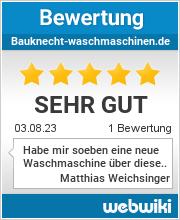 Bewertungen zu bauknecht-waschmaschinen.de