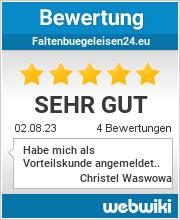 Bewertungen zu faltenbuegeleisen24.eu
