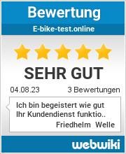 Bewertungen zu e-bike-test.online