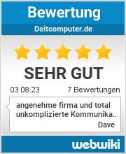 Bewertungen zu dsitcomputer.de
