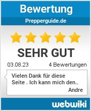 Bewertungen zu prepperguide.de