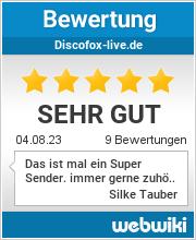 Bewertungen zu discofox-live.de
