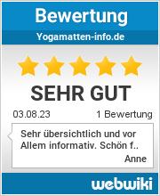 Bewertungen zu yogamatten-info.de