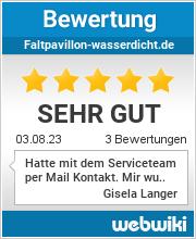 Bewertungen zu faltpavillon-wasserdicht.de