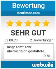 Bewertungen zu henrimoe.com