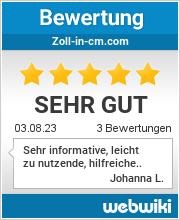 Bewertungen zu zoll-in-cm.com