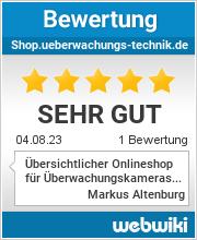 Bewertungen zu shop.ueberwachungs-technik.de