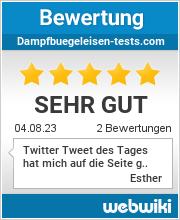 Bewertungen zu dampfbuegeleisen-tests.com
