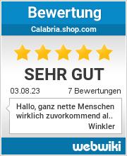 Bewertungen zu calabria.shop.com